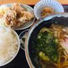 八丁うどん - 料理写真:からあげ定食