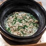 虎白 - 食事 ブリの炊き込みご飯