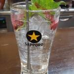 炭火焼鳥 喜八 - 喜八サワー390円はりんご酢と梅シロップ