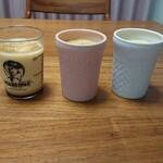 125811533 - ぜんぶ、マーロウの北海道フレッシュクリームプリン。ビーカーは750円、陶器は780円。陶器は紅白で「2020」って入ってて、すてーき。