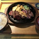 京都ダイニング正義 - アンガス牛200g ご飯みそ汁セット ご飯大盛 わさび