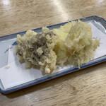 はや味 - 舞茸と下仁田葱の天ぷら