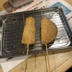串カツ田中 - 料理写真:牛串&ハムカツ