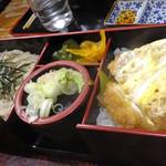 大村庵 - そばとかつ丼のセット。<2012_04>