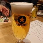 天ぷら酒場 KITSUNE - 生ビール(480円)