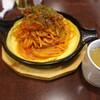 駅馬車 - 料理写真:濃厚ナポリタン、玉子焼き付き(850円)