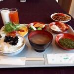 大川荘 - 朝食ビュッフェです。