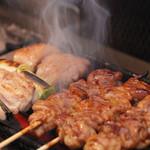 おしゃれな焼き鳥屋 COCORO - 料理写真:備長炭で丁寧に焼き上げます