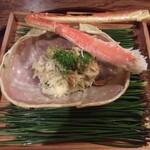 125832020 - 焼き間人蟹と間人蟹の飯蒸し