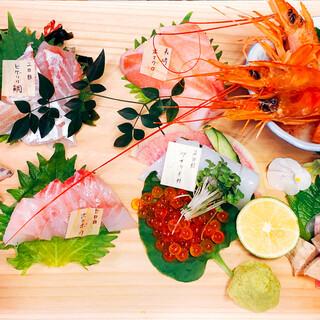 津本式熟成刺身と朝どれの盛り合わせ