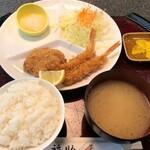 とんかつ福助 - 料理写真:ヒレ&海老ランチ