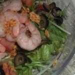 ルースター - 水菜とエビの和風サラダ