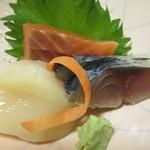 旬菜松はし  - ホタテ、サーモン、シメサバ