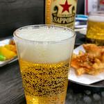 楽笑 - ドリンク写真:瓶ビール