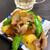 楽笑 - 料理写真:じゃが芋とすなっぷえんどうの豚炒め