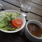 ラ・パニエ - セットのサラダとスープ