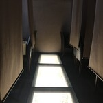 あし跡 - 各個室、ロールカーテンがパーティションに(2020.2.20)