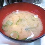 ランチハウス - セットのお味噌汁