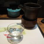 西田鮨 - 冷酒(楯野川 純米大吟醸)