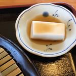 そばの郷 江野そば - 落花生豆腐
