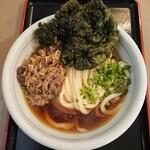 125897430 - 肉ぶっかけに、あおさの天ぷらin