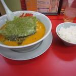 山岡家 - 特製味噌ラーメン(690円)と半ライス(110円)