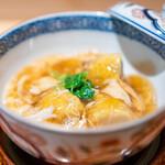 竹ざき - 海老芋のあられ揚げ 蟹の餡掛け