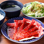 焼肉 YOKOHAMA 045  - 和牛焼きすきランチ