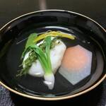 山ばな平八茶屋 - 海老しんじょうの煮物椀
