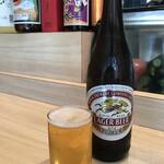 加賀屋 - ドリンク写真:キリンラガー中ビン、お好み焼きは、絶対ビールですね!(2020.2.21)