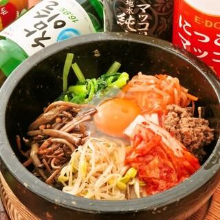 ビビンバやチヂミなど、こだわりの韓国料理をご用意しております