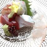ホテル白菊 - 刺身五種盛り