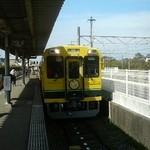12592322 - 番所への交通手段、いつみ鉄道。