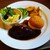 喫茶 赤いサニー - 料理写真:国産ハンバーグ & エビクリームコロッケランチ 1,100円(税別)。     2020.02.16