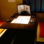博多野菜巻き串焼き ここにこんね - ☆半個室スタイルのテーブル席(*^_^*)☆