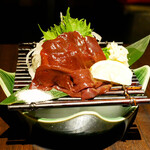 博多野菜巻き串焼き ここにこんね - ☆国産馬のレバ刺し(#^.^#)☆