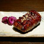 博多野菜巻き串焼き ここにこんね - ☆肉巻き焼きおにぎり(●^o^●)☆