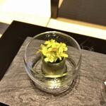 長谷川栄雅  - 菜の花/蛤×長谷川 純米大吟醸 三割五分
