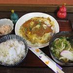 しょうじゅ亭 - カツ玉子とじ定食