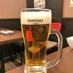 神田餃子居酒屋WARASHIBE GYOZA - 生ビール
