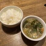 中華バルSAISAI。 - ご飯、スープ       おかわりできます。