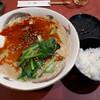 千馬 - 料理写真:担々麺とライス