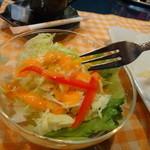 田舎亭Cafe案山子 - バケットセットのミニサラダ