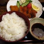やきとり居食屋 もり - 【ランチ】 チキンカツ 550円 ご飯のおかわりできます