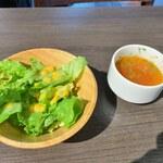 洋麺バルPastaBA - セットサラダ&スープ