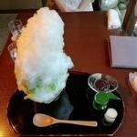 甘味茶房 見世蔵 久森 - 抹茶あずき(¥1,000)