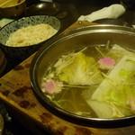 個室 魚と黒豚 まん - 豚しゃぶの野菜