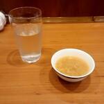 ONDEN - 玉ねぎとかき玉のお味噌汁。