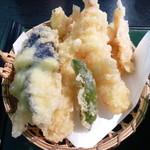 からつ - 天刺定食の天ぷら