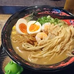 酒肴 縁 - 中太ストレート麺